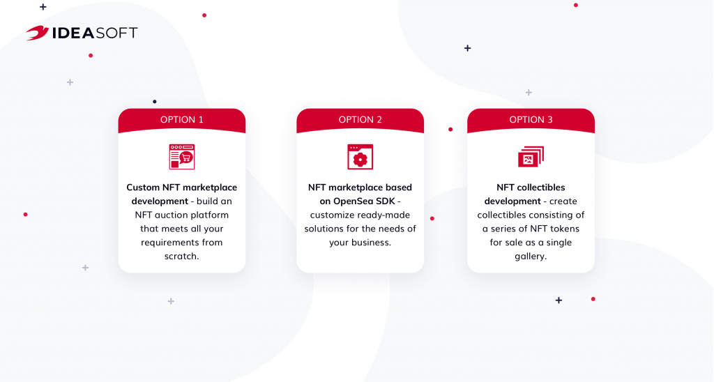 IdeaSoft nft marketplace development services