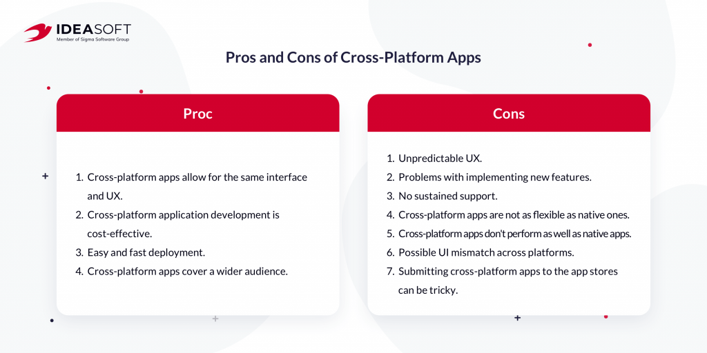 Pros and cons of cross-platform apps