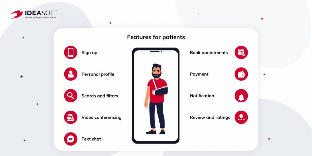 telemedicine features for patients